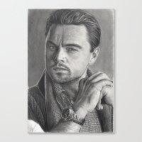 leonardo dicaprio Canvas Prints featuring Leonardo DiCaprio by fabio verolino