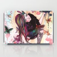 sandman iPad Cases featuring Delirium, The Sandman by Anguiano Art