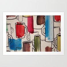 Retro Cup Art Print
