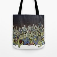 zombies Tote Bags featuring Zombies!!! by Justin McElroy