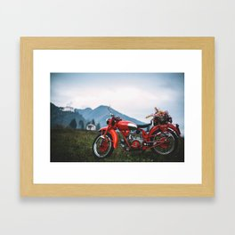 Moto Guzzi indie tribute Framed Art Print