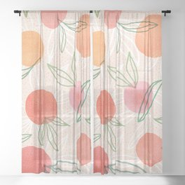 Tropical Fruit Blend Sheer Curtain