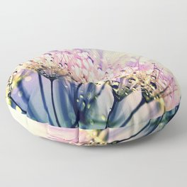 Pastel Dandelion Dew Floor Pillow