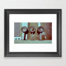 3 lights Framed Art Print