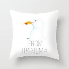 Gull From Ipanema (Kelp Gull) Throw Pillow