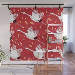 Party Cranes Wall Mural