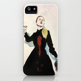 Personality In Black Takes A Step Forward iPhone Case