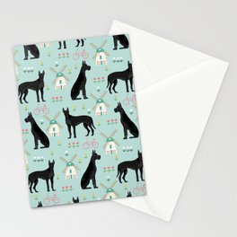 Great Dane windmills cute custom pet portrait dog lover dog breeds great danes Stationery Cards