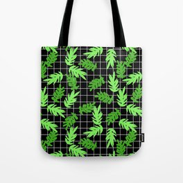 Leif - pattern grid minimal leaf repeating pattern hipster minimal iphone6 case for gender neutral  Tote Bag