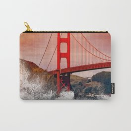 Waves over Red Bridge Carry-All Pouch