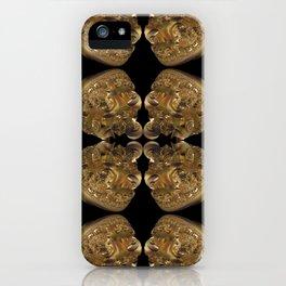 Fractal Art - Golden Pyramid iPhone Case