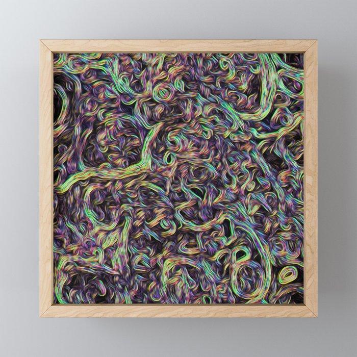 Colorful roots Framed Mini Art Print