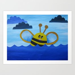 """Bee in the sea"" Art Print"
