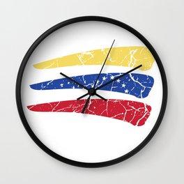 Venezuela flag home South America gift Wall Clock