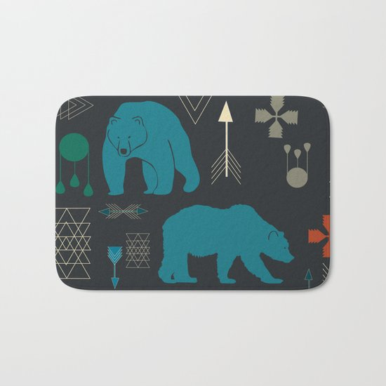 Tribal Bear Bath Mat