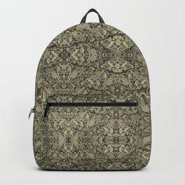 Vintage kaleidoscopic knitting endpaper Backpack