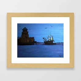 Morning Catch Framed Art Print
