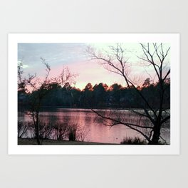 SUN VIEW LAKE Art Print