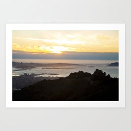 View of the San Francisco Bay Area from Grizzly Peak Art Print