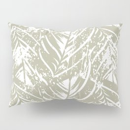 Jungle print with silhouette of paradise island foliage Pillow Sham