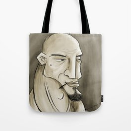Bald Man Tote Bag