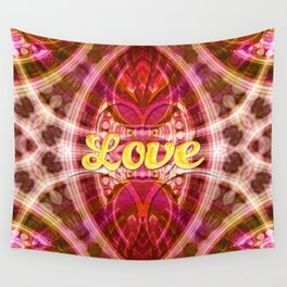 Tribal Love Geometry (Pinks) Wall Tapestry