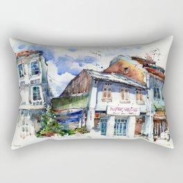 Shophouses  at Dickson Road, Little India Singapore. Rectangular Pillow