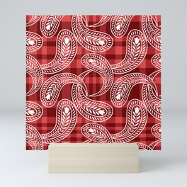 Paisley pattern Mini Art Print