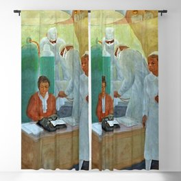 African American Masterpiece WPA Mural Harlem Hospital Education & Medicine - Pursuit of Happiness Blackout Curtain