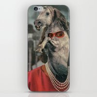 helen iPhone & iPod Skins featuring Horsehead Helen  by Computarded