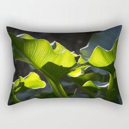 Green Contrast - Light and Dark Rectangular Pillow