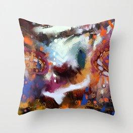 Smily monkey Throw Pillow