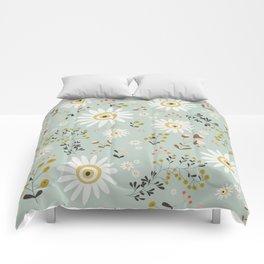 Gold Daisy Comforters