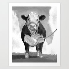Welcome to the Pasture Art Print
