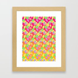 Fruity Fruit Slice Framed Art Print