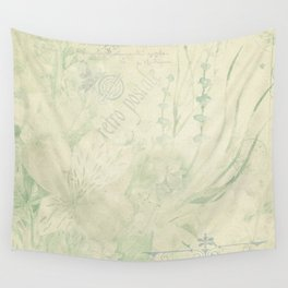 Faded Vintage French Postcard Wall Tapestry