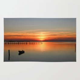 Sunset in Porto tolle Italy Rug