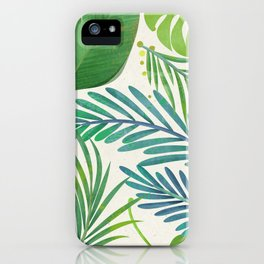 Seamless Beautiful Tropical Pattern Monstera Greens Leaves iPhone Case