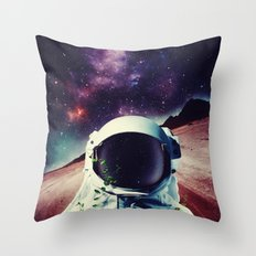 Lonely Spaceman Throw Pillow