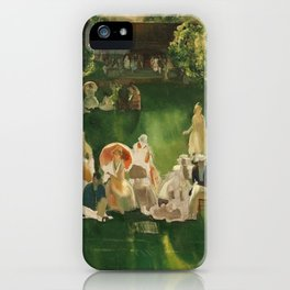 "Classical Masterpiece ""The Tennis Tournament"" by George Bellows, 1920 iPhone Case"