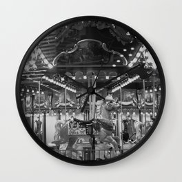 black and white childhood Wall Clock
