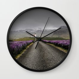 Church and nature Wall Clock