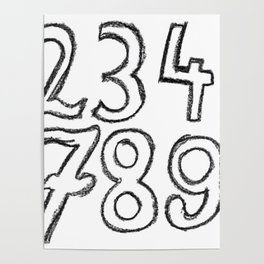 crayon numbers Poster