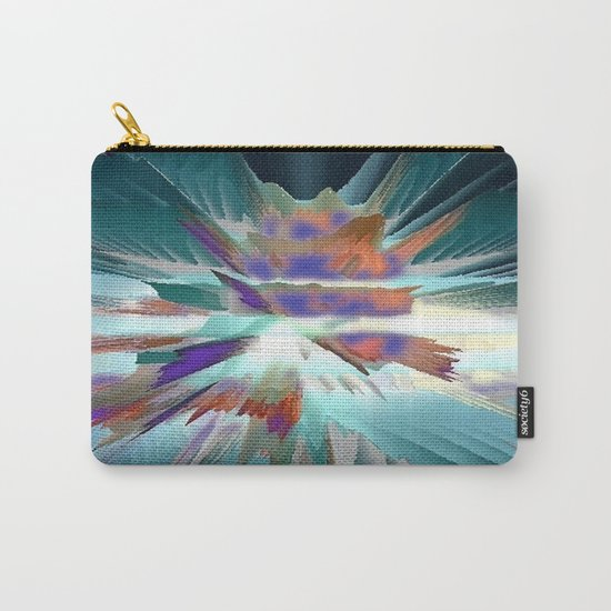 Pow Teal Splash Carry-All Pouch