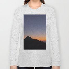 Venus and the Moon. Sierra Nevada at sunset Long Sleeve T-shirt