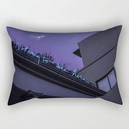 Nothing to See Rectangular Pillow