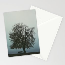 Fogy evening at Kalemegdan fortress in Belgrade, Serbia, Analog photo on expired film Stationery Cards