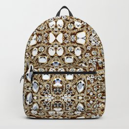 jewelry gemstone silver champagne gold crystal Backpack