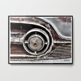 Rusted Grill Metal Print