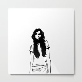girl girl Metal Print
